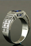 Sterling Silver and Sapphire TARDIS ring
