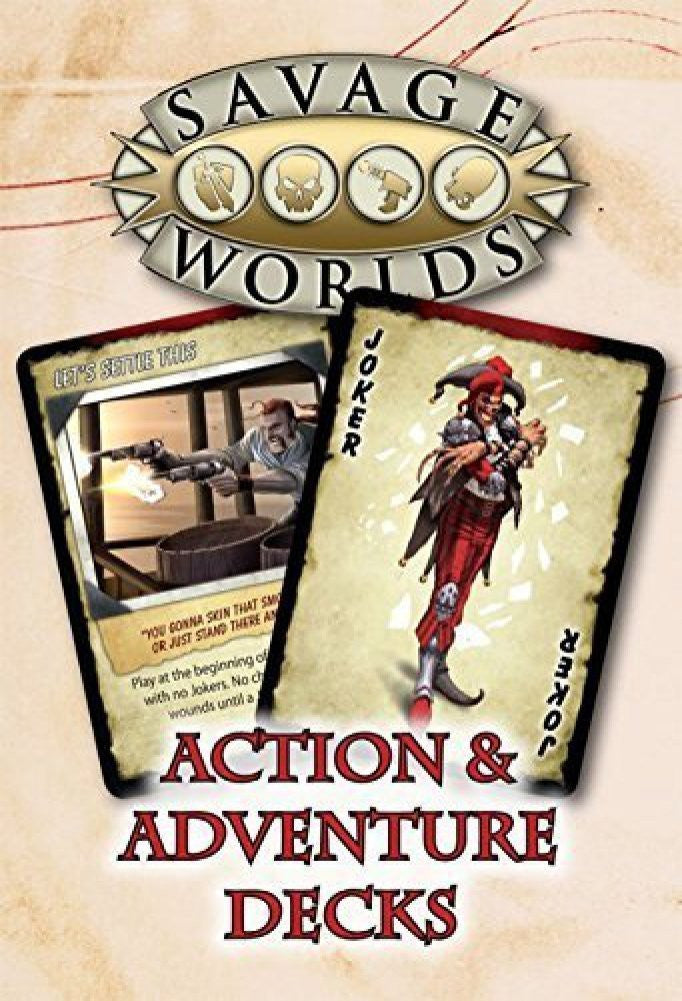 Savage Worlds RPG: Action and Adventure Decks