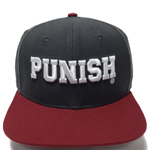 Punish Cap - Street wear design - Grey/Maroon