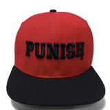Punish Cap - Street wear design - Red/Black
