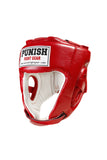Punish Head Guard (Leather) - Open Face