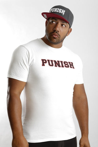 Punish Keyline T Shirt  - White