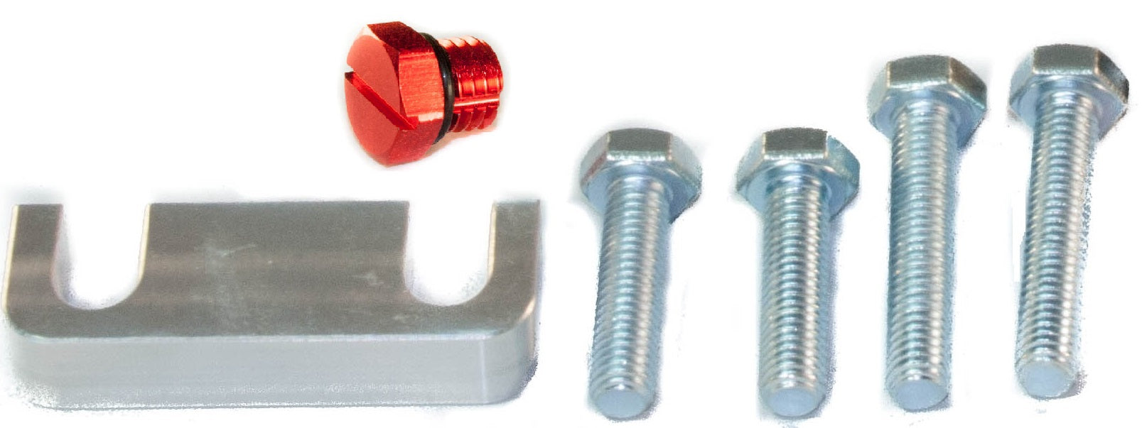 duramax fuel filter head housing spacer kit and aluminum