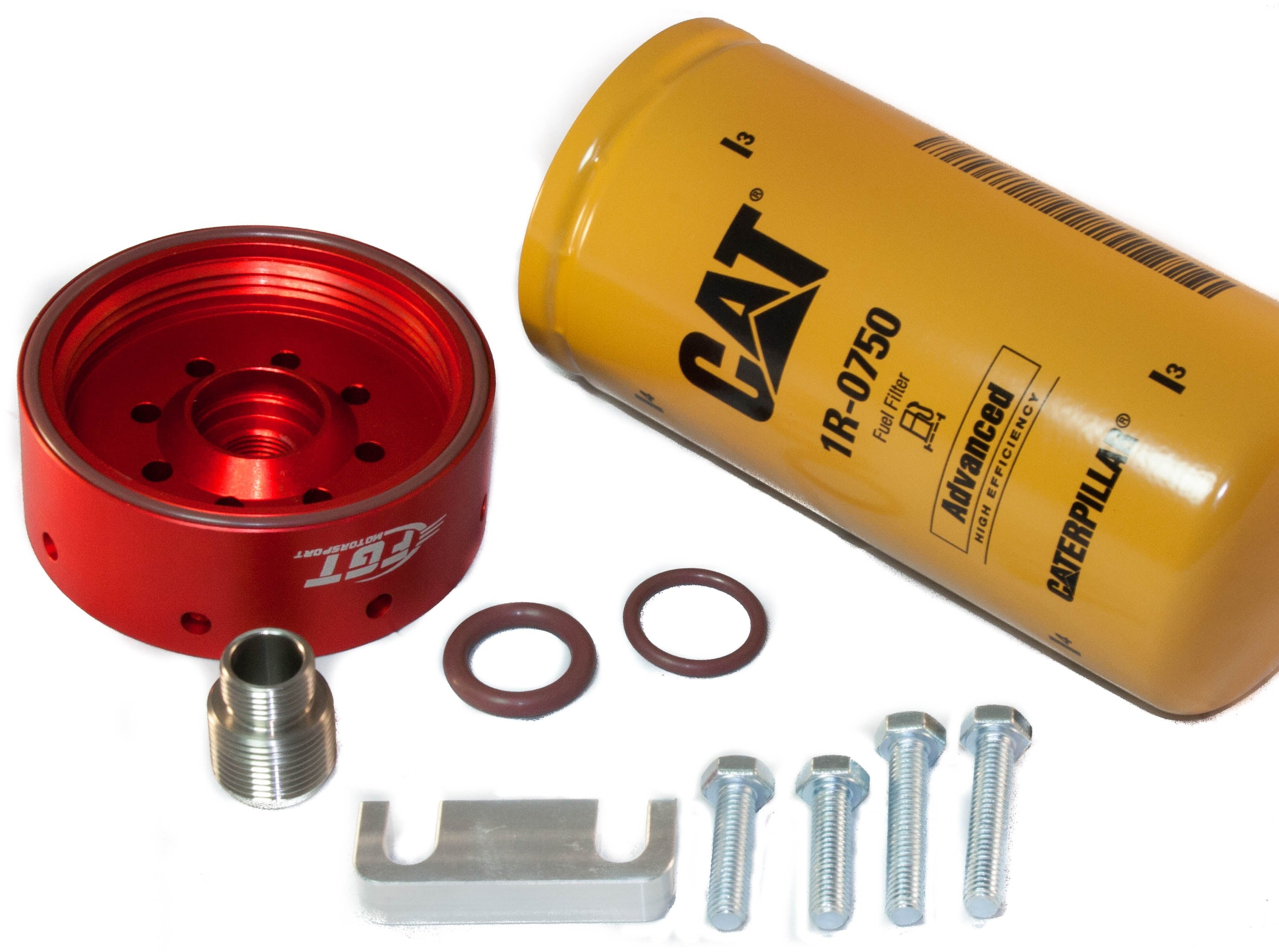 duramax auxiliary fuel filter cat fuel filter adapter kit for 01-16' duramax lb7/lly/lbz/lmm/lml chevy gmc duramax cat fuel filter