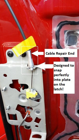 Ford door latch cable repair kit f 150 e 150 ranger etc for 1998 ford f150 rear window replacement