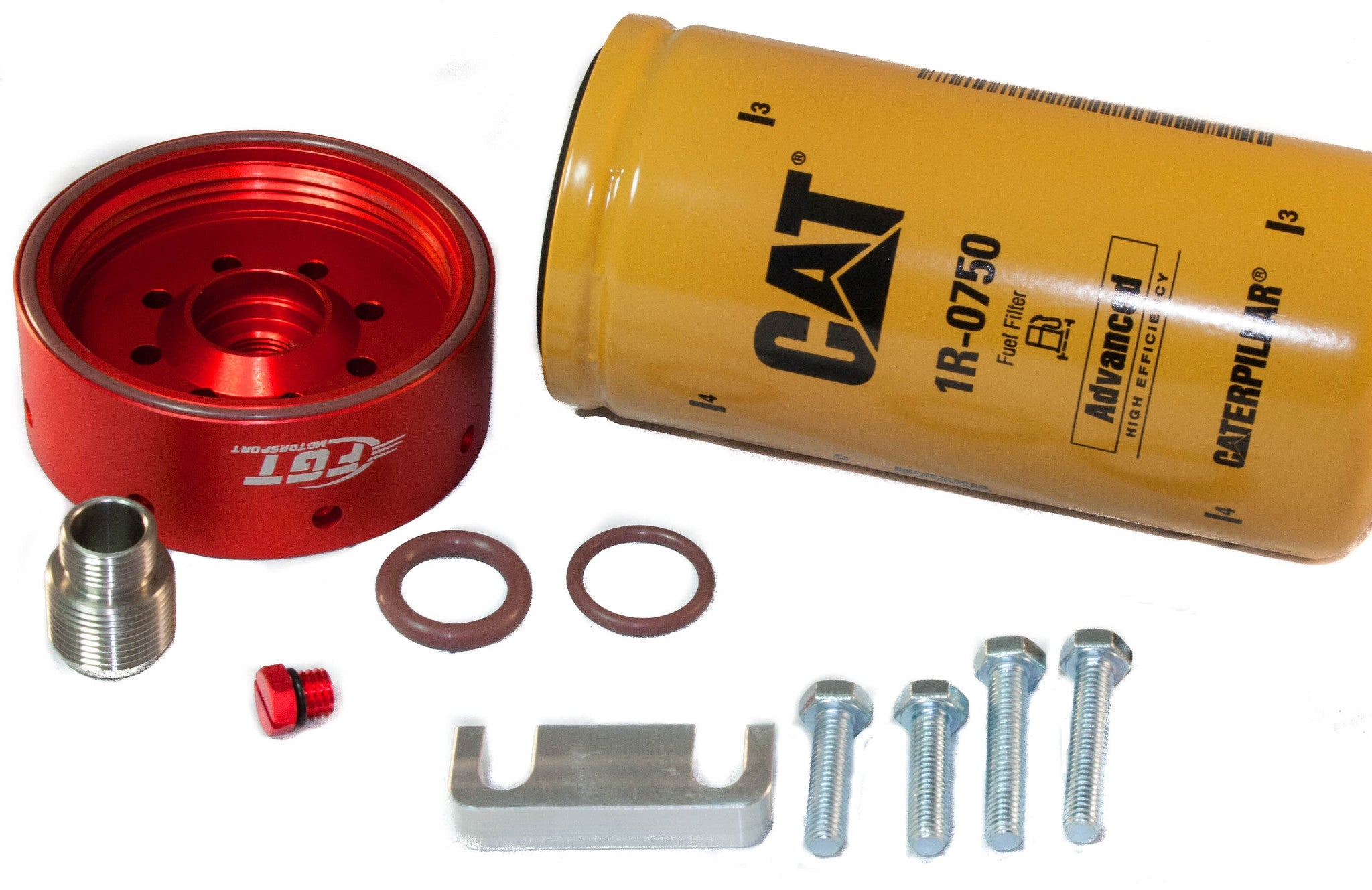 Add On Kit For Duramax Fuel Filter Wiring Diagram Housing Repair Fgt Cat Adapter With 1r 0750 Spacerduramax