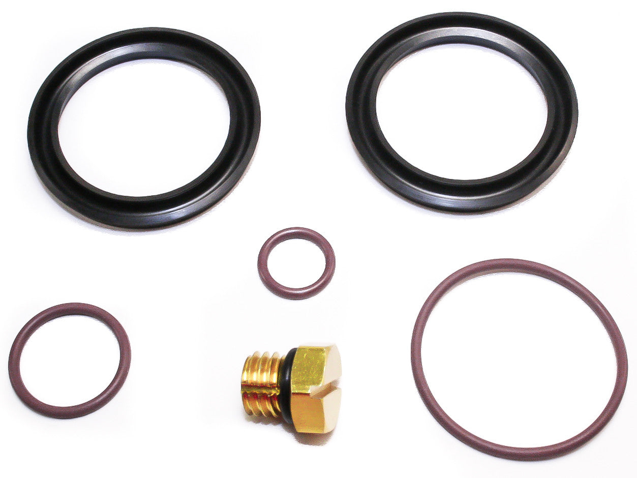 2001-2010 6.6L Duramax Fuel Filter Primer Rebuild Seal Kit including BONUS  Billet Bleeder ...