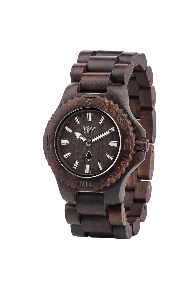 WeWood Watches - Date Wood Watch - Chocolate - All Organix