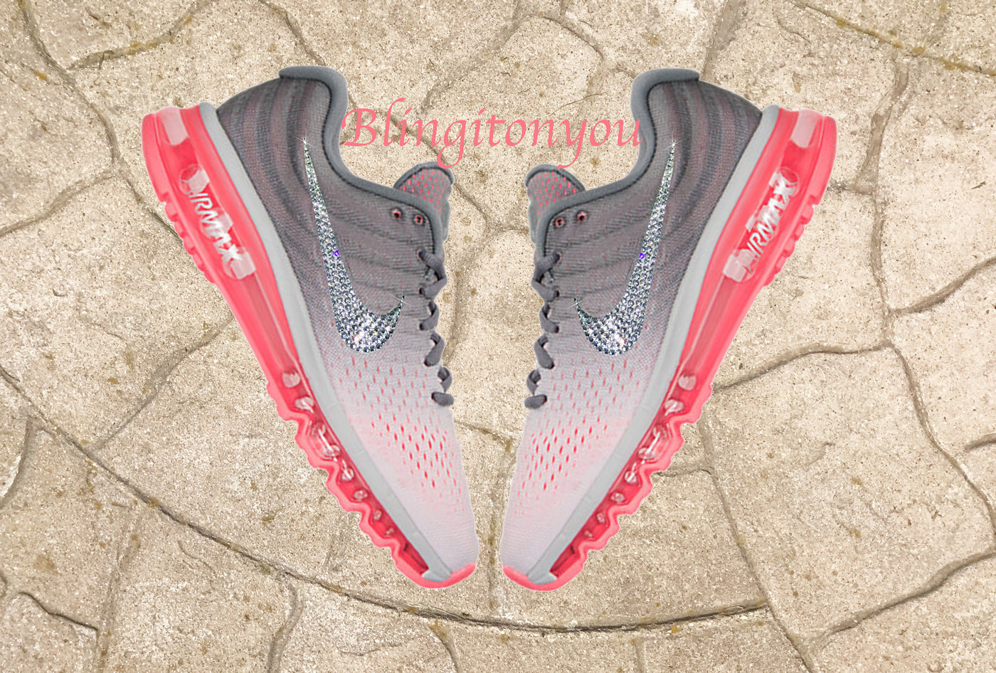6594f248cf53 New Custom Blinged Swarovski Nike Women's Air Max 2017 Shoes | Nike Shoes  Customized with Swarovski Crystals