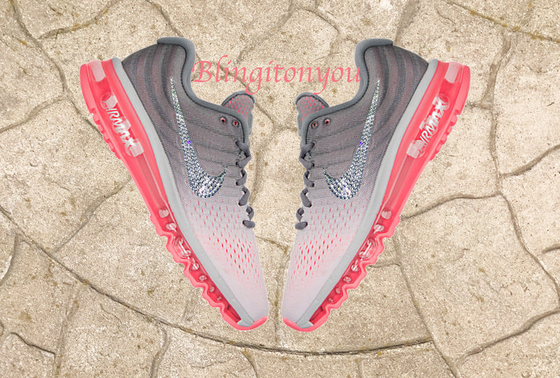 New Custom Blinged Swarovski Nike Women's Air Max 2017 Shoes | Nike Shoes Customized with Swarovski Crystals