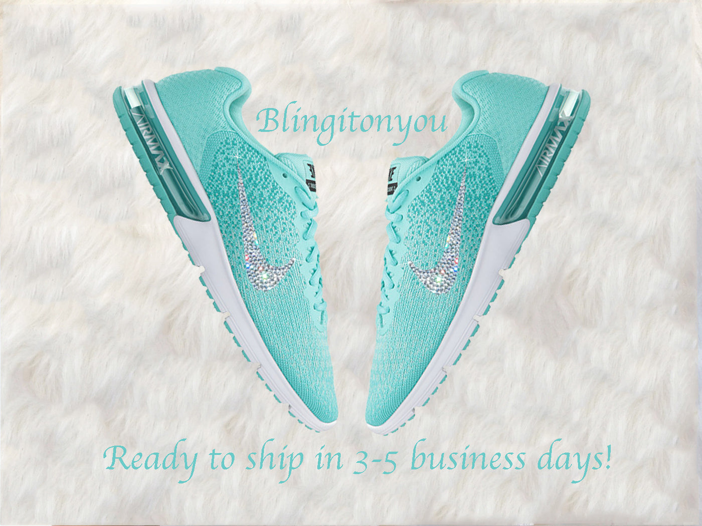 Nike Women s Air Max Sequent 2 Shoes Custom Blinged with Swarovski Crystal  Rhinestones  a4aa0e3c8