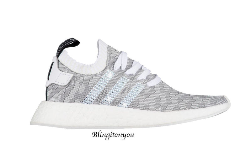 45fe6e80cffc1 SWAROVSKI Adidas Primeknit NMD 2 Women s Shoes Custom Blinged with Swarovski  Crystal Rhinestones Bling Swarovski Adidas Women s Shoes