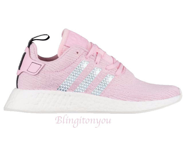 ef72a201bf860 SWAROVSKI Adidas NMD 2 Women s Shoes Pink Custom Blinged with Swarovski  Crystal Rhinestones Bling Swarovski Adidas Women s Shoes