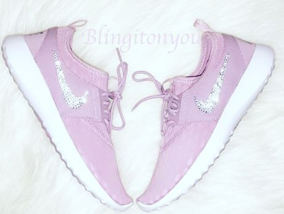 Custom Nike Women's Juvenate Shoes (Orchid) Custom Blinged with Swarovski Crystal Rhinestones