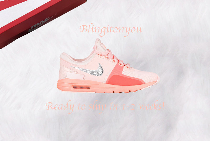Swarovski Nike Air Max Zero Sunset Tint / Glow Shoes Custom Blinged with Swarovski Crystal Rhinestones | Nike Bling Shoes | Swarovski Nike