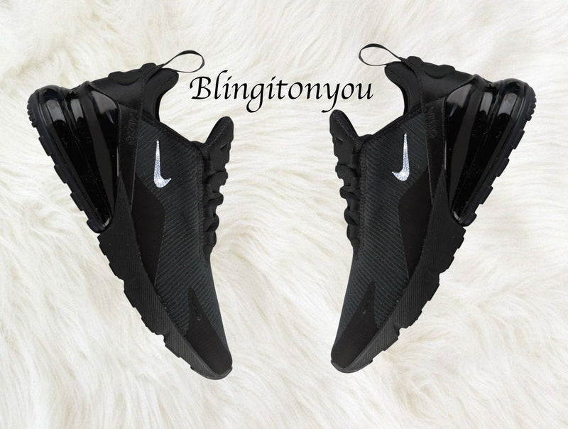 Swarovski Nike Air Max 270 Shoes Customized With Swarovski Nike Crystals