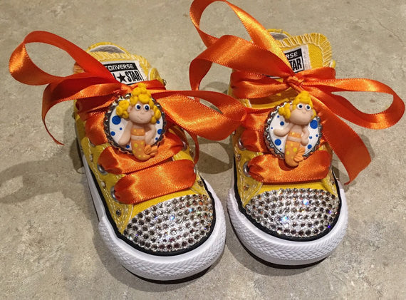 Bubble Guppies Themed Converse Blinged With Swarovski Crytals Infant / Toddler Sizing - Blingitonyou  - 1