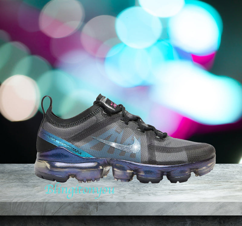 Swarovski Nike Air Vapormax 2019 Galaxy Shoes Blinged Out With Swarovski Crystals Bling Nike Shoes