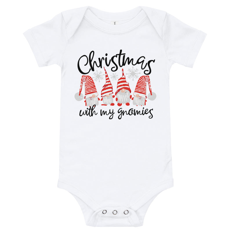 """Christmas with My Gnomies"" Adorable Holiday Onesie 