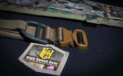 "High Speed Gear COBRA 1.75"" Rigger Belt with Interior Velcro and D-Ring"