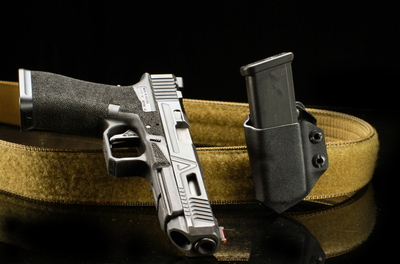 Alex and Ryan Design Kydex Single Pistol Mag Black Carrier