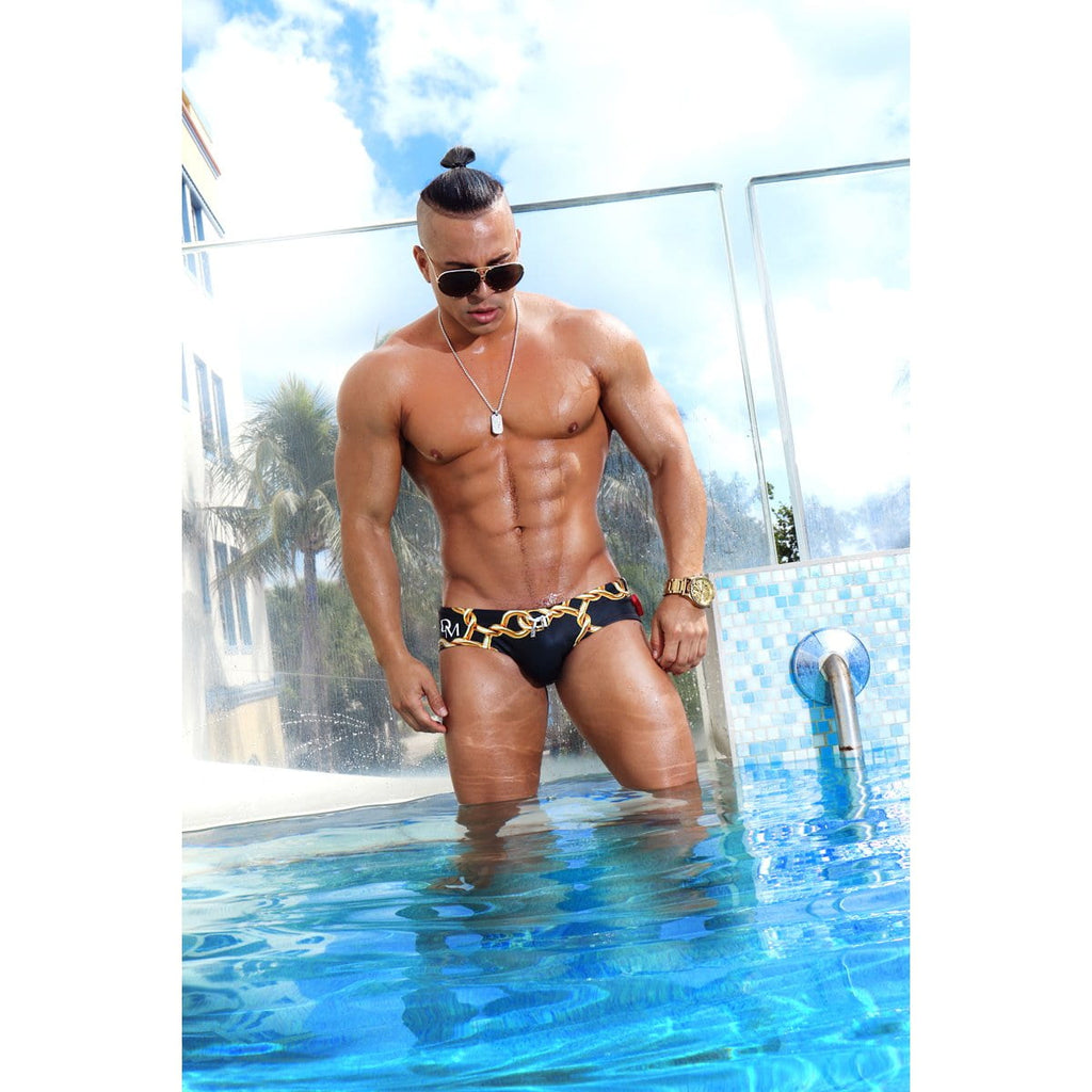 men swimsuit - Luxury Brand - Swim brief - Danny Miami - Made in USA - Swimwear for men - Links