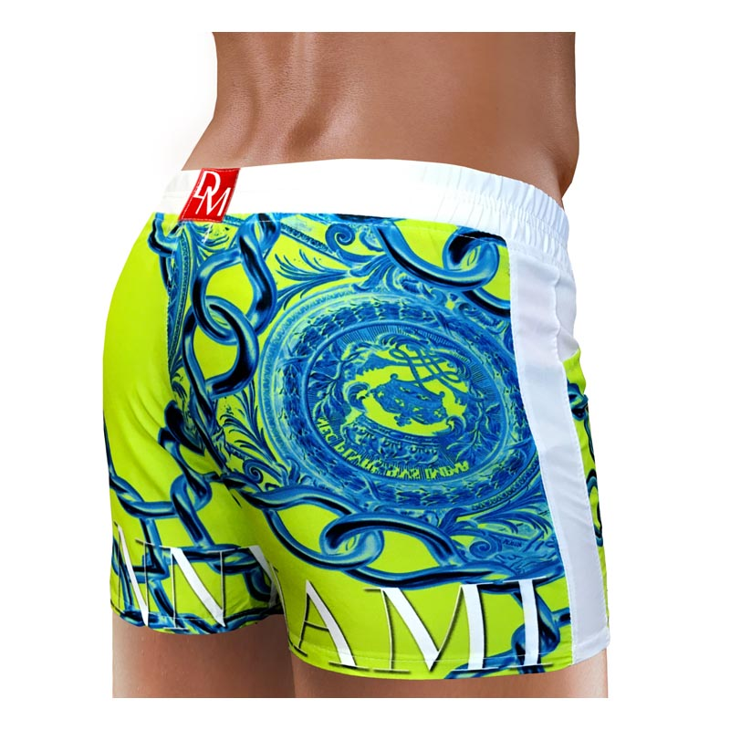 Men Swimwear Beach Short - Danny Miami luxury brand - Swimwear gym workout shorts  - Lord Lime