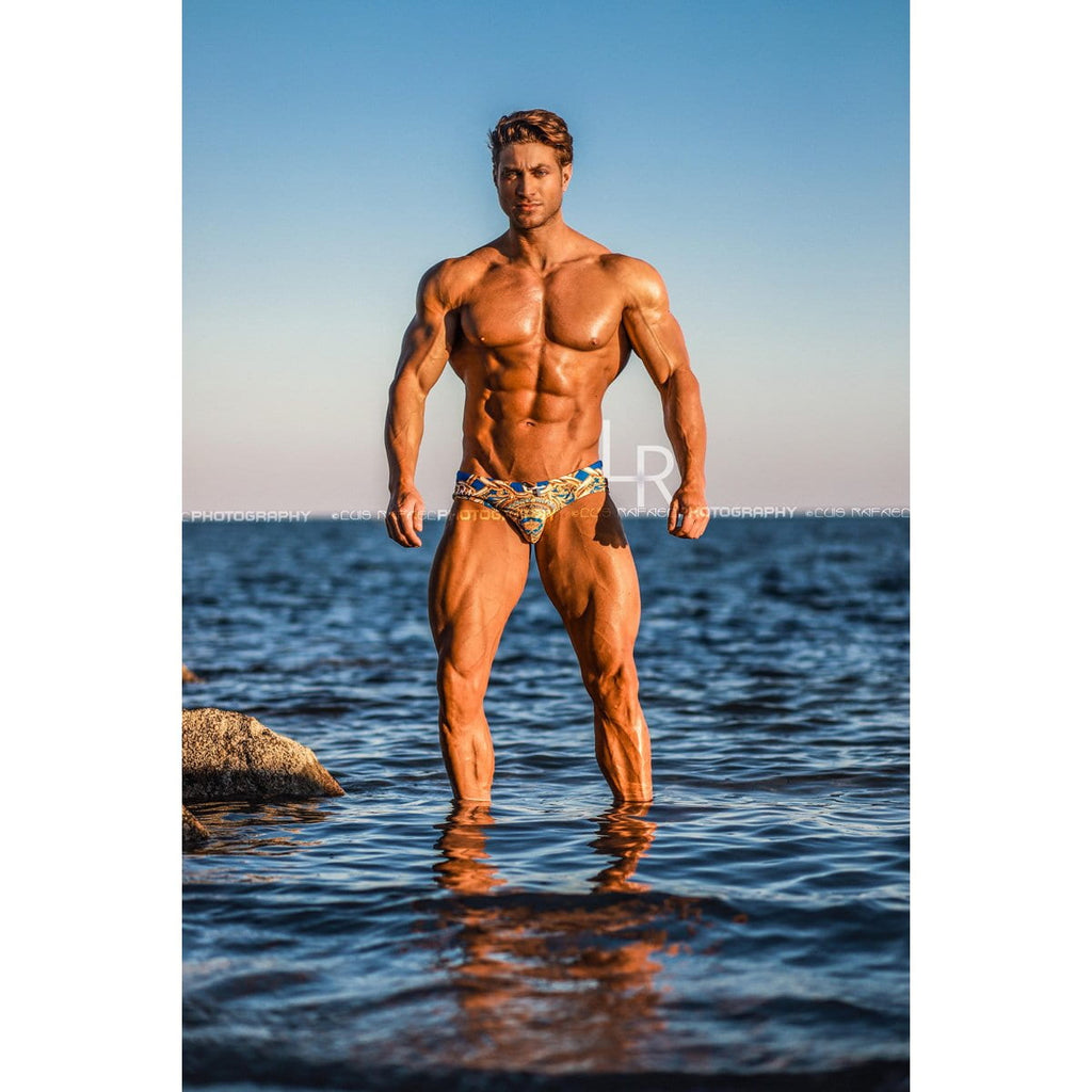 men swimsuit - Luxury Brand - Swim brief - Danny Miami - Made in USA - Swimwear for men - Lord Sky