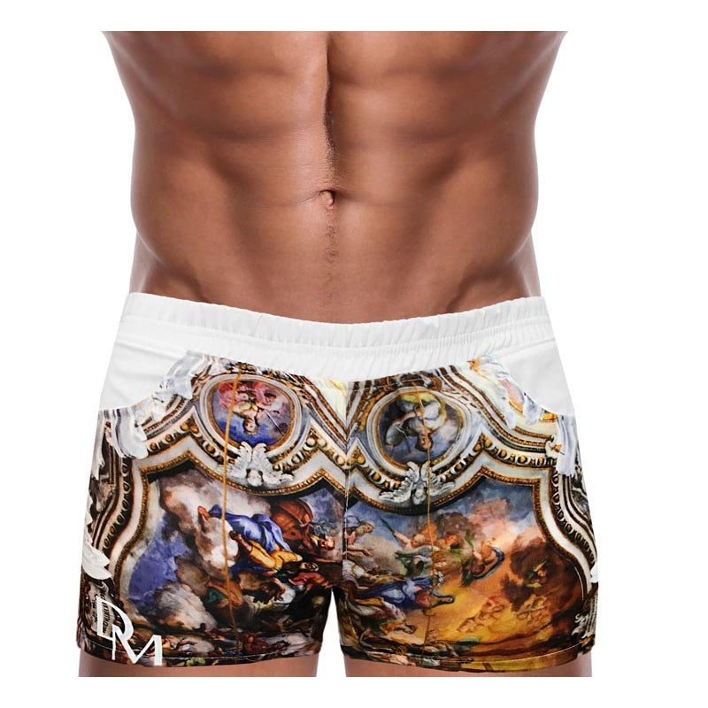 Men Swimwear Beach Short - Danny Miami luxury brand - Swimwear gym workout shorts  - Sin