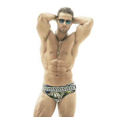 DANNY MIAMI Swimwear - Blue Print - Men Swimsuit Brief
