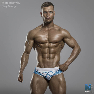 DANNY MIAMI Swimwear - Crown Blue - Men Swimsuit Brief - Beach Trunks