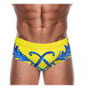 DANNY MIAMI Swimwear - Crown Yellow - Men Swimsuit Brief - Beach Trunks