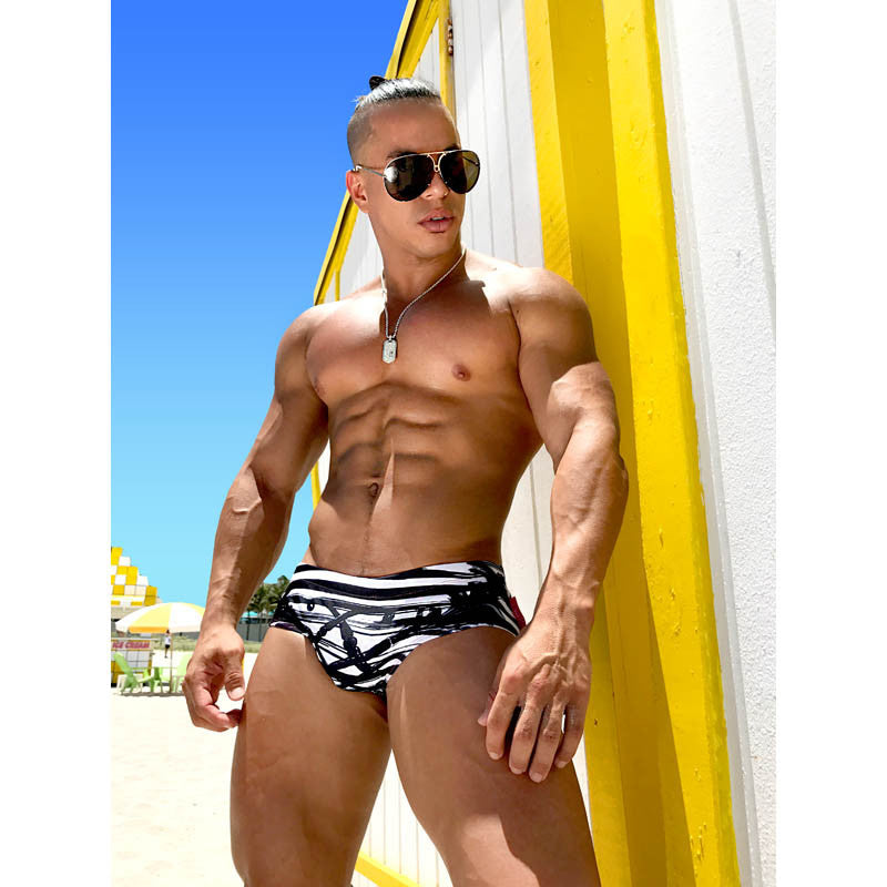 DANNY MIAMI Swimwear - Divergent - Men Swimsuit Brief - Beach Trunks