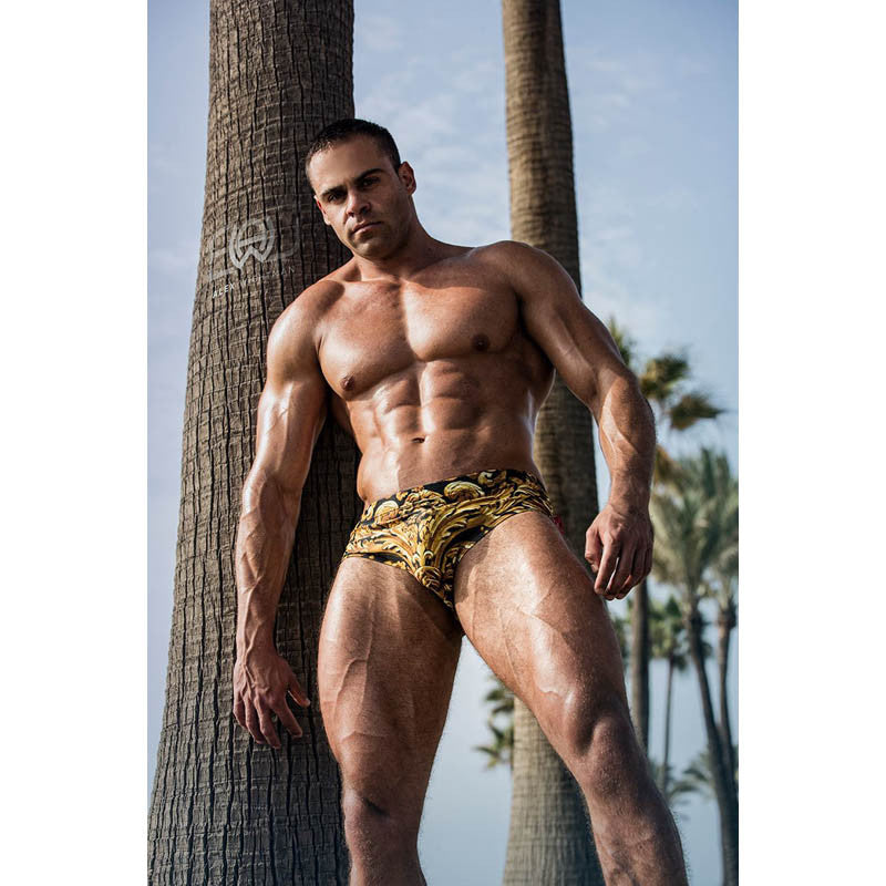DANNY MIAMI Swimwear - God Of king - Men Swimsuit Brief - Beach Trunks -  Fashion brand