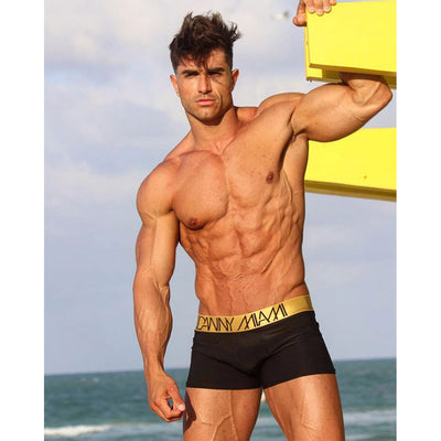Gold Black Boxer