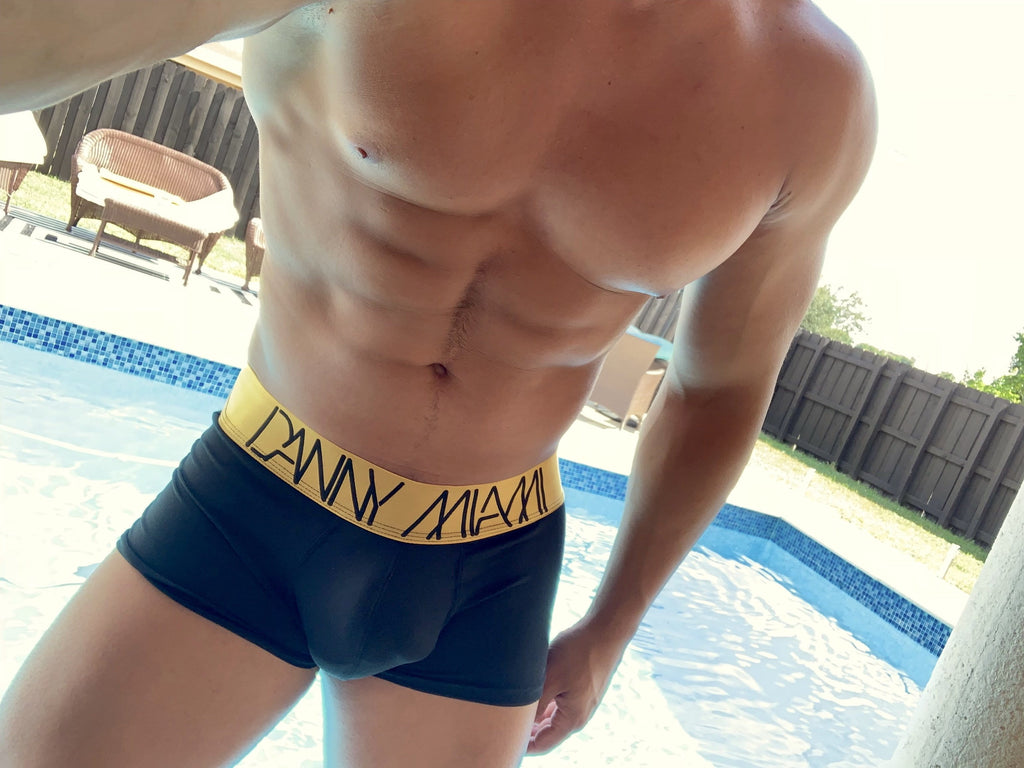 3Pack Gold Black Boxer