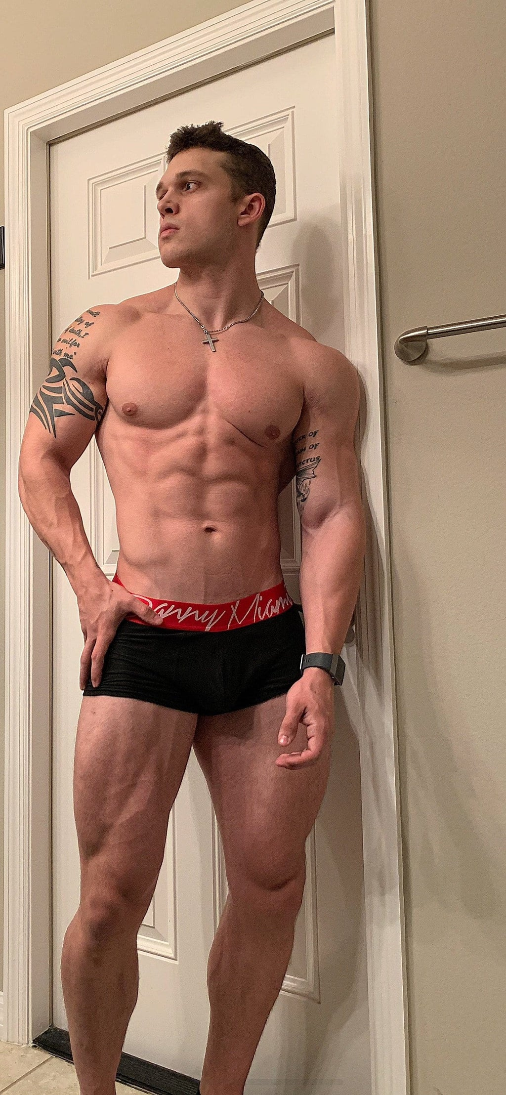 Red Black Boxer