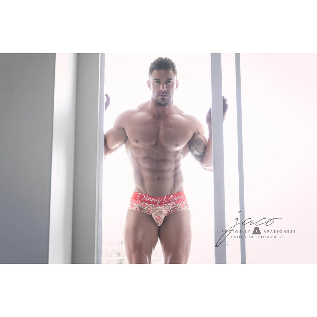 Lord Red - Underwear Brief -  TOP Fashion Brand DANNY MIAMI  - Undies with sexy low cut