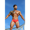 DANNY MIAMI Swimwear - Olympia Red - Men Swimsuit Brief - Beach Trunks