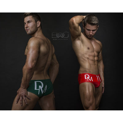 DANNY MIAMI Swimwear - Olympia Green - Men Swimsuit Brief - Beach Trunks