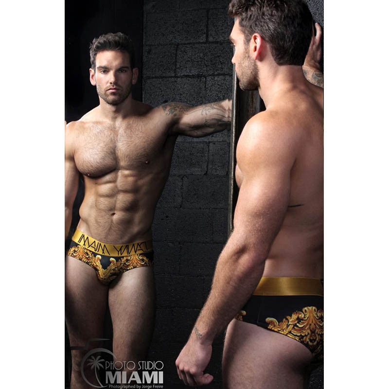 Royal Black - Underwear Brief -  TOP Fashion Brand DANNY MIAMI  - Undies with sexy low cut
