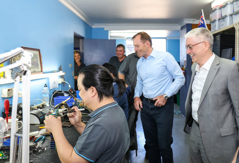 Tony Abbott visits Benbro
