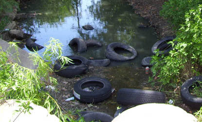 Tire Dumping making it's way to ponds