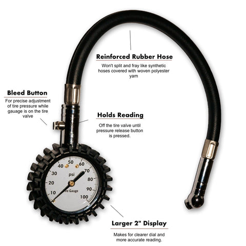 Heavy Duty Tire Gauge 0 - 100 PSI