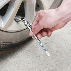 Apply Pressure Using Tire Gauge