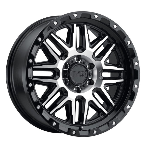 BLACK RHINO ALAMO 20x9.0 6/139.7 ET12 CB112.1 SILVER W/MIRROR FACE AND STAINLESS BOLTS Wheels Black Rhino