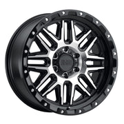 Black Rhino Alamo Wheels & Rims 20x9.0 8/165 ET-18 CB122.1 Gloss Black W/Machined Face & Stainless Bolts for Trucks & SUV