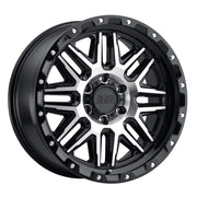 Black Rhino Alamo Wheels & Rims 18x9.0 8/180 ET-18 CB125.1 Gloss Black W/Machined Face & Stainless Bolts for Trucks & SUV