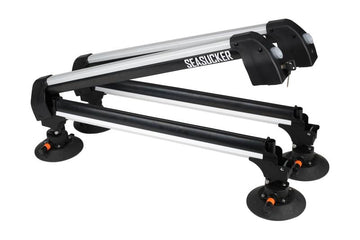 "Seasucker Classic Ski Rack with Powerful 6"" Vacuum Mounts - TreadWright"