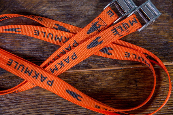 Pakmule 12' MULEstrap Polyester Tie Downs - Gray, Blaze Orange | TreadWright